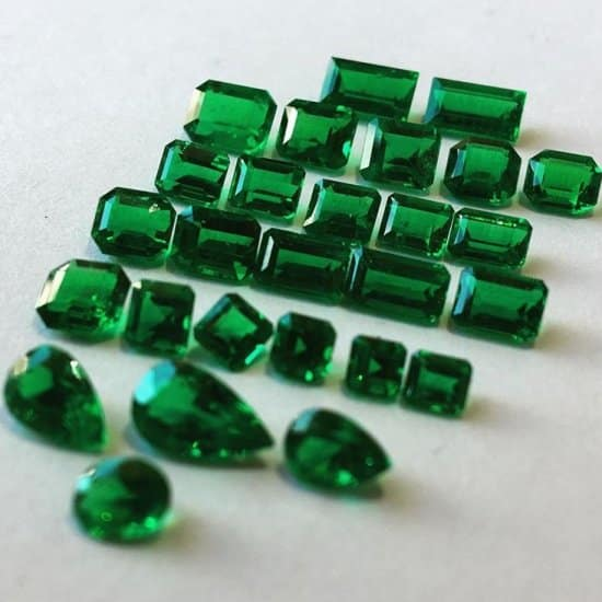 coloured emeralds
